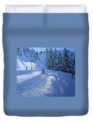 Morzine Ski Run Duvet Cover