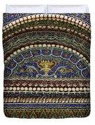 Mosaic And Shell Fountain Getty Villa Malibu California Duvet Cover