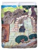 Mosaic Art At Petra Duvet Cover