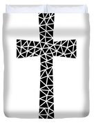 Mosaic Cross  Duvet Cover