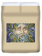 Mosaic Face Fountain Detail Duvet Cover