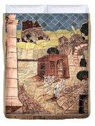 Mosaic Images At Petra Duvet Cover