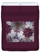 Mosaic In Violets Duvet Cover