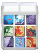 Mosaic Of Abstracts Duvet Cover