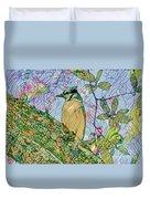 Mosaic Of Blue Jay Duvet Cover