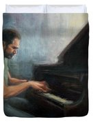 Mosci At The Piano Duvet Cover