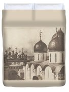 Moscow, Domes Of Churches In The Kremlin Duvet Cover