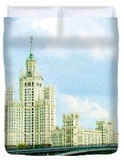 Moscow High-rise Building Duvet Cover
