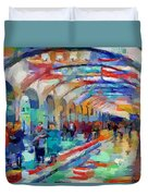Moscow Metro Station Duvet Cover