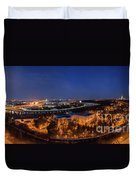 Moscow Night Panorama Duvet Cover