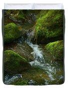 Mose On Rocks  Duvet Cover