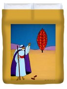 Moses And The Burning Bush Duvet Cover