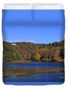 Moses Cone Manor House And Bass Lake Duvet Cover