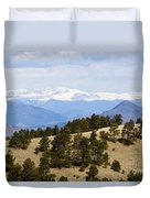 Mosquito Range Mountains From Bald Mountain Colorado Duvet Cover