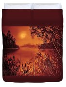 Mosquito Sunset Duvet Cover