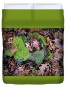Moss And Leaves Duvet Cover