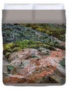 Moss And Lichen Abstract Duvet Cover