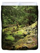 Moss By The Stream Duvet Cover