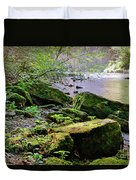 Moss Covered Boulders Duvet Cover