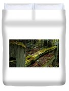 Moss Covered Fence Duvet Cover