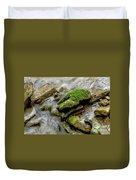 Moss Covered Rock Duvet Cover