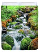 Moss Covered Stream Duvet Cover