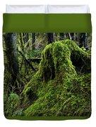 Moss Covered Tree Stump Duvet Cover