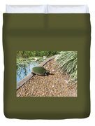 Moss Covered Turtle Duvet Cover