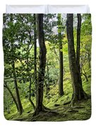 Moss Forest - Ginkakuji Temple - Japan Duvet Cover