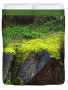Moss On Rocks Duvet Cover