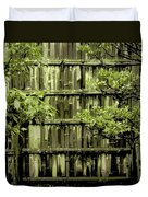 Mossy Bamboo Fence - Digital Art Duvet Cover