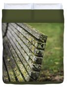 Mossy Bench Duvet Cover