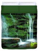 Mossy Falls - 2981 Duvet Cover