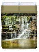 Mossy Flowing Waterfalls In Enfield Glen Duvet Cover