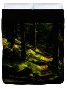 Mossy Forest Path Duvet Cover