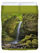 Mossy Grotto Falls In Summer Duvet Cover