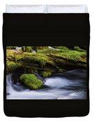 Mossy Rocks Oregon 3 Duvet Cover