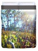 Mossy Sunburst Duvet Cover