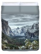 Most Beautiful Yosemite National Park Tunnel View Duvet Cover