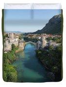 Mostar, Bosnia And Herzegovina.  Stari Most.  The Old Bridge. Duvet Cover