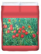 Mostly Tulips Duvet Cover