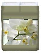 Moth Orchids - White Duvet Cover