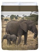 Mother And Baby Elephant Duvet Cover