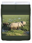 Mother And Calves Duvet Cover