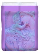 Mother And Child In Lavender Duvet Cover