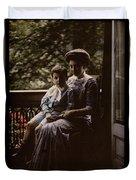 Mother And Child. Johannes Hendrikus Antonius Maria Lutz, 1907 - 1916 Duvet Cover