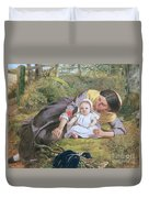 Mother And Child With A Poppy Duvet Cover