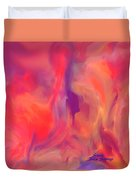 Mother And Daughter Abstract Duvet Cover