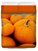 Mother And Daughter Pumpkins Duvet Cover