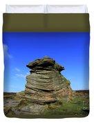 Mother Cap Gritstone Rock Formation, Millstone Edge Duvet Cover